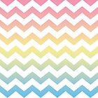 Chevron Rainbow Waves by thepixelgarden