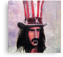 Frank Zappa (Top Hat) Canvas Print