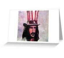 Frank Zappa (Top Hat) Greeting Card
