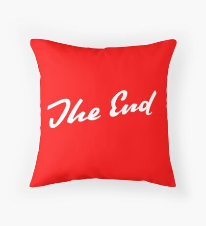 Sherlock Elementary - The End Throw Pillow
