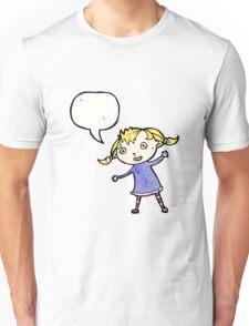 cartoon little blond girl Unisex T-Shirt