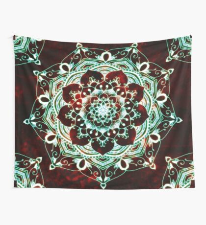 Glowing Soul Mandala Wall Tapestry