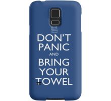 Don't panic and bring your towel Samsung Galaxy Case/Skin