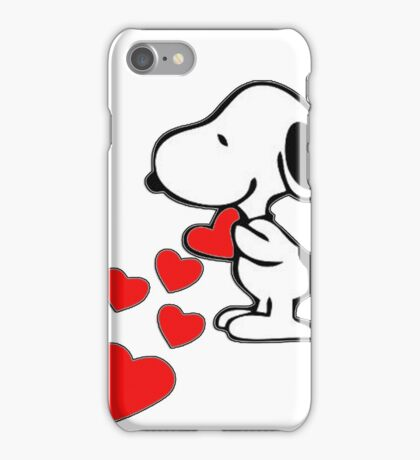 Snoopy amor iPhone Case/Skin