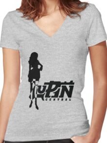 Femme Fatale Simple Women's Fitted V-Neck T-Shirt