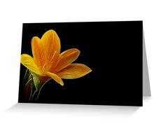Fractal Lonely Blonde Flower Greeting Card