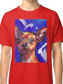 Miniature Pinscher Dog Bright colorful pop dog art Classic T-Shirt
