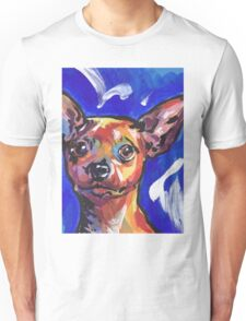 Miniature Pinscher Dog Bright colorful pop dog art Unisex T-Shirt