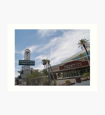 Frontier Las Vegas awaiting demolition. Art Print