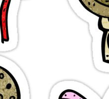 sewing things cartoon Sticker