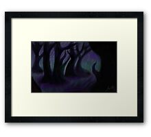 obstruction of reality Framed Print