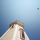 lighthouse and drone by Manon Boily