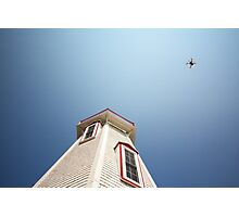lighthouse and drone Photographic Print