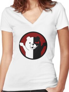Anime - Monobear Women's Fitted V-Neck T-Shirt