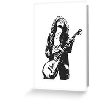Jimmy Page Led Zeppelin Greeting Card