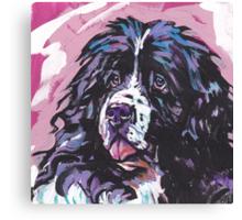 Landseer Newfoundland Dog Bright colorful pop dog art Canvas Print