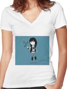 acid girl 2 Women's Fitted V-Neck T-Shirt