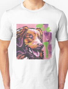 Nova Scotia Duck Tolling Retriever Dog Bright colorful pop dog art T-Shirt