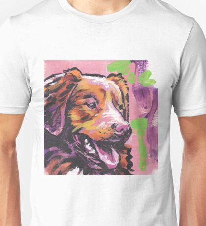 Nova Scotia Duck Tolling Retriever Dog Bright colorful pop dog art Unisex T-Shirt