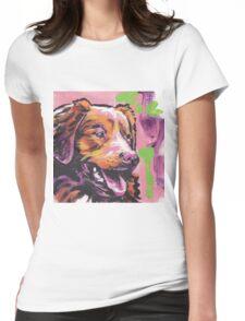 Nova Scotia Duck Tolling Retriever Dog Bright colorful pop dog art Womens Fitted T-Shirt