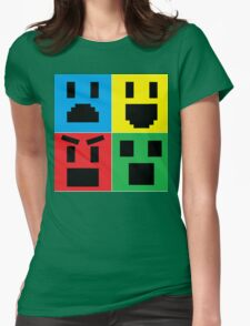 Emoji Collage Womens Fitted T-Shirt