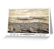 San Diego - California - 1876 Greeting Card