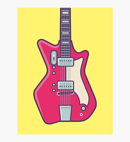 Jack White JB Hutto Montgomery Ward Airline Guitar (Alt Yellow) Photographic Print