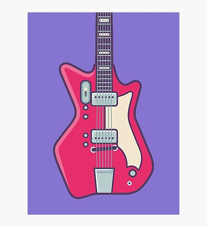 Jack White JB Hutto Montgomery Ward Airline Guitar (Alt Purple) Photographic Print