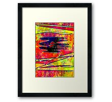 I can see my iris from the inside Framed Print