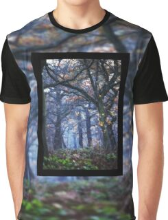 The Enchanted Forest Portrait with Double Border Graphic T-Shirt