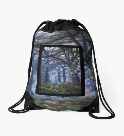 The Enchanted Forest Portrait with Double Border Drawstring Bag