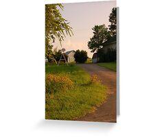 Country Walk Greeting Card