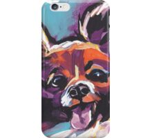 Papillon Dog Bright colorful pop dog art iPhone Case/Skin