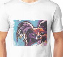 Papillon Dog Bright colorful pop dog art Unisex T-Shirt
