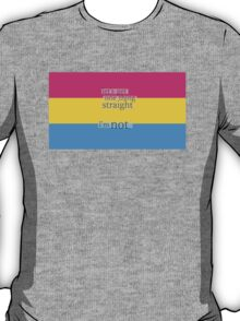 Let's get one thing straight, I'm not - Pansexual flag T-Shirt