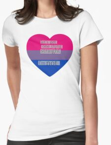 Let's get one thing straight, I'm not - bisexual heart flag Womens Fitted T-Shirt