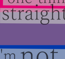 Let's get one thing straight, I'm not - bisexual heart flag Sticker