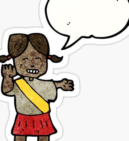 cartoon helpful girl guide Sticker