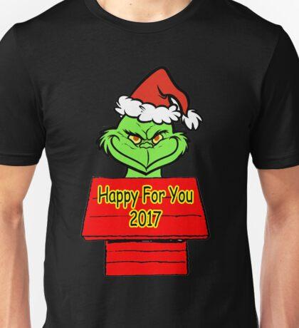 Grinch happy 2017 Unisex T-Shirt