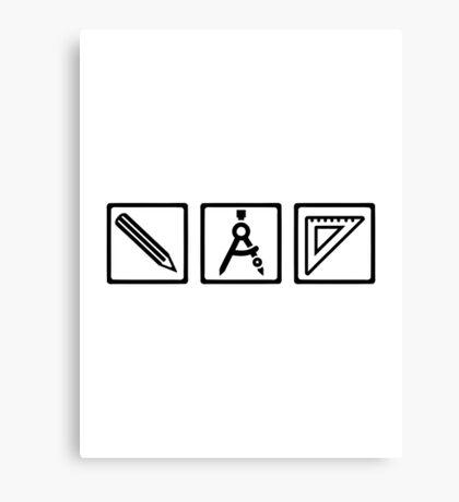 Architect tools compass Canvas Print