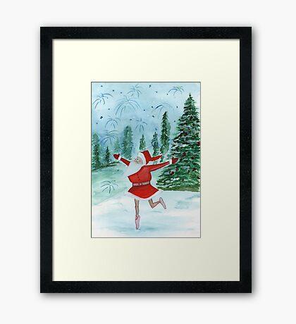 Santa Ballerina Framed Print