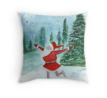 Santa Ballerina Throw Pillow