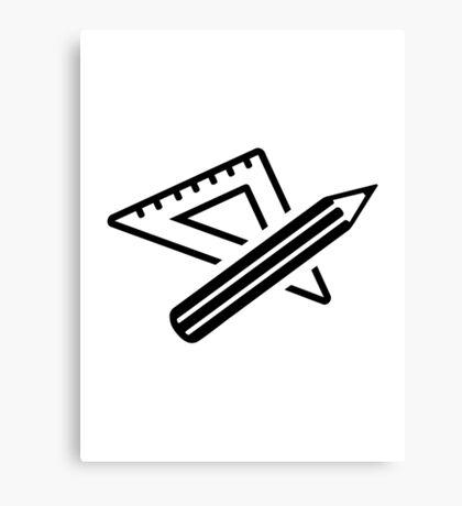 Ruler pencil Canvas Print