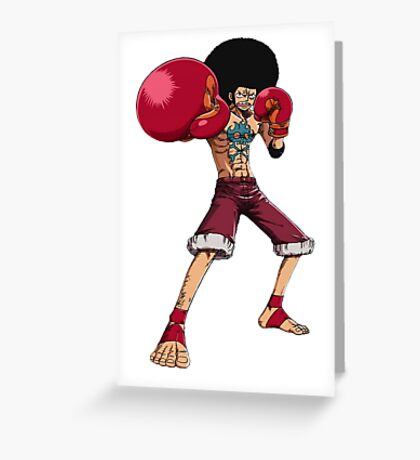 AFRO LUFFY Greeting Card