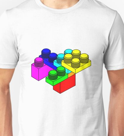 Colourful Lego Blocks Unisex T-Shirt