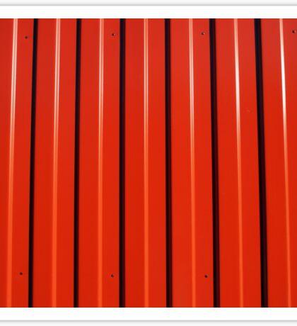 Red metal corrugated sheet metal Sticker