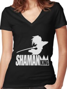 Shaman King Women's Fitted V-Neck T-Shirt