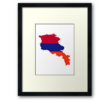 Armenia map flag  Framed Print