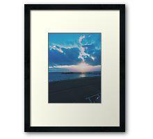 Brighton Pier Winter Sunset Framed Print