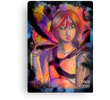 Doll with the black bird tatoo Canvas Print